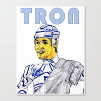 tron Canvas Prints featuring Tron by AdrockHoward