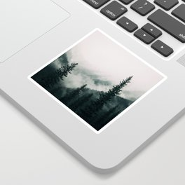Over the Mountains and trough the Woods -  Forest Nature Photography Sticker