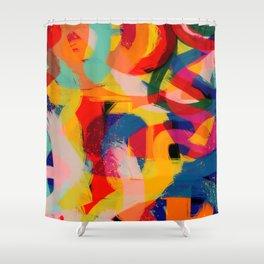 Abstract Joyful Colors Pattern Street Art Graffiti Shower Curtain