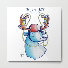 OH MY BEER! Metal Print