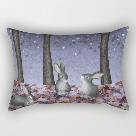 starlit bunnies Rectangular Pillow