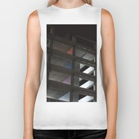 grid Biker Tanks featuring grid by jared smith