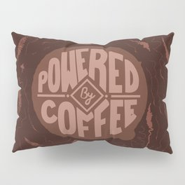 powered by coffee and swirls Pillow Sham