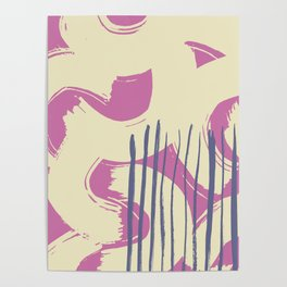 Abstract grunge brush pattern Poster