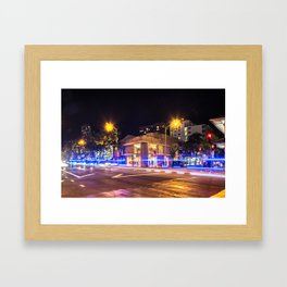 Waikiki at night  - Hawaii Framed Art Print