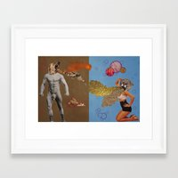 fierce Framed Art Prints featuring Fierce by Moistgnome