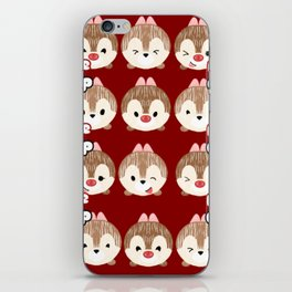 Chip And Dale Pattern iPhone Skin