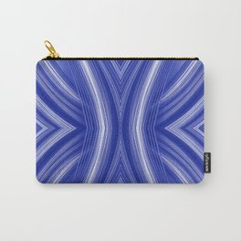108 - indigo blue paper pattern Carry-All Pouch