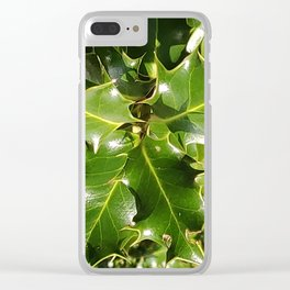 Spikey Leaves Clear iPhone Case