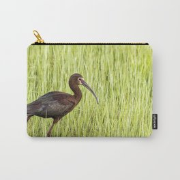 Strutting White-faced Ibis in Breeding Plumage Carry-All Pouch
