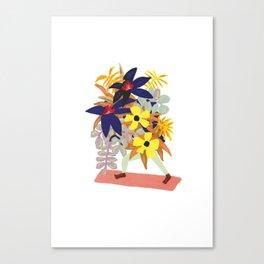 Floral Yoga Babe Canvas Print