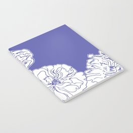 FLORAL IN BLUE Notebook