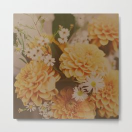 Autumn Floral Metal Print