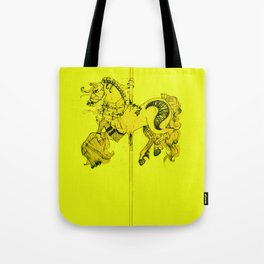 Lydia's Carousel Horse Tote Bag