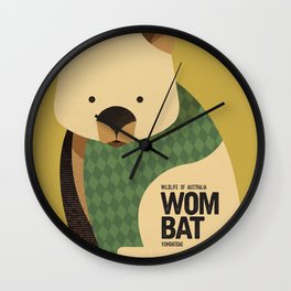 Hello Wombat Wall Clock