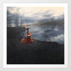 The Depth of the Lake Art Print