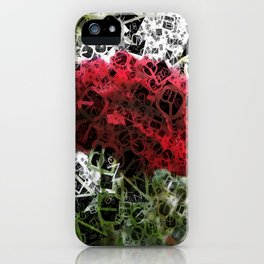 Red Rose with Light 1 Letters 4 iPhone Case