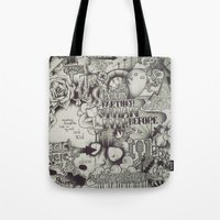 uncharted Tote Bags featuring Uncharted Actuality by Lamb