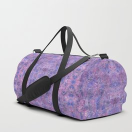 Purple and faux silver swirls doodles Duffle Bag