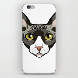 Cool Sphynx Cat Tee Shirt - T Shirt Gift For Cat Lovers iPhone Skin