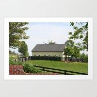 farm Art Prints featuring Farm by Yellow Barn Studio
