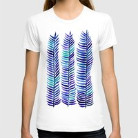 indigo T-shirts featuring Indigo Seaweed by Cat Coquillette