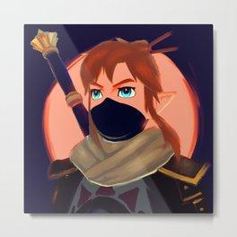 Legend of Zelda - Breath of the Wild - Link - Painting Metal Print