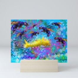 Waspy Predators In Wait Mini Art Print