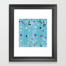 Ethnic pattern with native and tribal motif Framed Art Print
