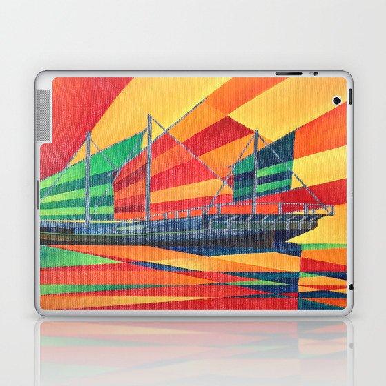 Sail Away Junk Pleasure Boat Laptop & iPad Skin