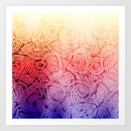 Groovy Bright Design Art Print
