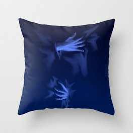 Coming Out Of The Blue Throw Pillow