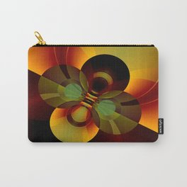 Brown and Gold Circles Geometric Abstract Carry-All Pouch