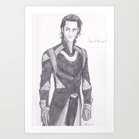 burdge Art Prints featuring God of Mischief by Burdge
