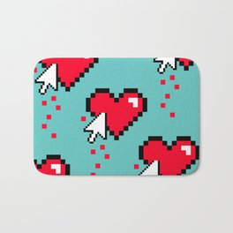 Broken 8 bits Heart Bath Mat