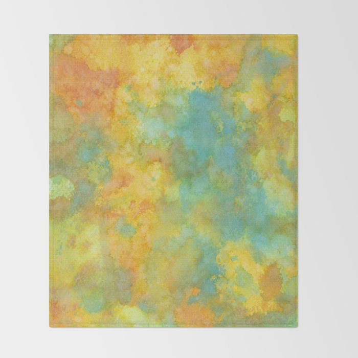 Ink Play - Abstract 01 Throw Blanket