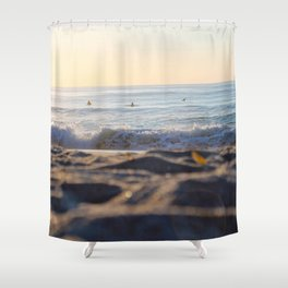 Surfers in the Morning Light Shower Curtain