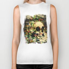 floral skully 2 Biker Tank
