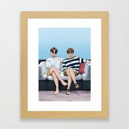 bts jinkook summer Framed Art Print