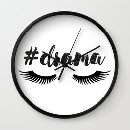 #Drama | Lashes Wall Clock