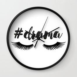 #Drama   Lashes Wall Clock
