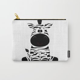 Sitting Zebra Carry-All Pouch