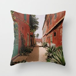 RED 2 STOREY HOUSES Throw Pillow