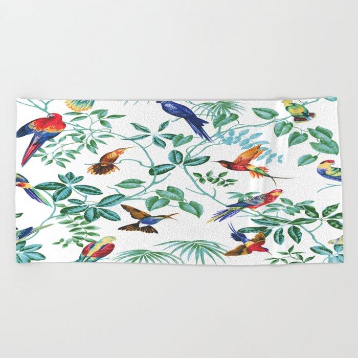 Jungle Birds II Beach Towel