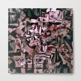 Cubist Abstract Metal Print