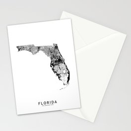 Florida State White Map Stationery Cards