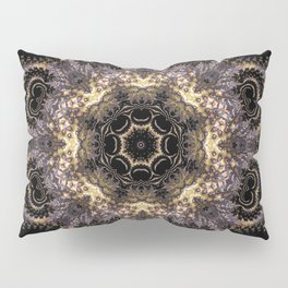Purple and Gold Fractal Kaleidoscope 2 Pillow Sham