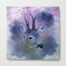 roebuck painting on watercolor -02- Metal Print