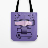 transformers Tote Bags featuring Transformers - Shockwave by CaptainLaserBeam