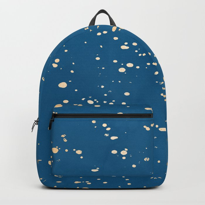 Paint Spatter - Orange Sherbet Shimmer on Saltwater Taffy Teal Backpack
